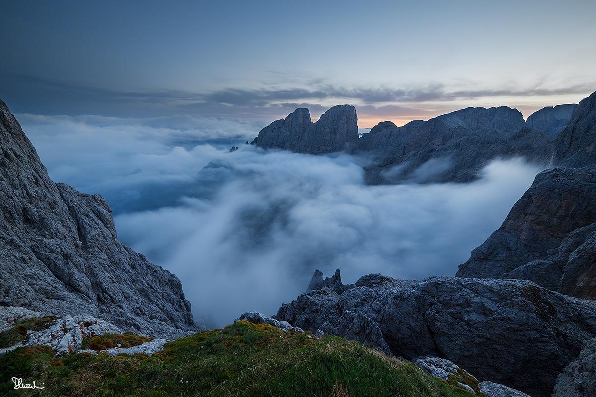 Nubi su Prà Caminaccio, aspettando l'alba...