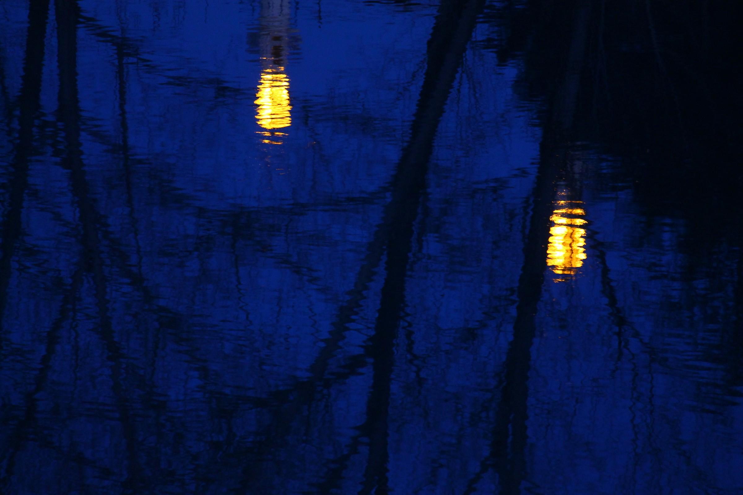 Lanterns on the water...