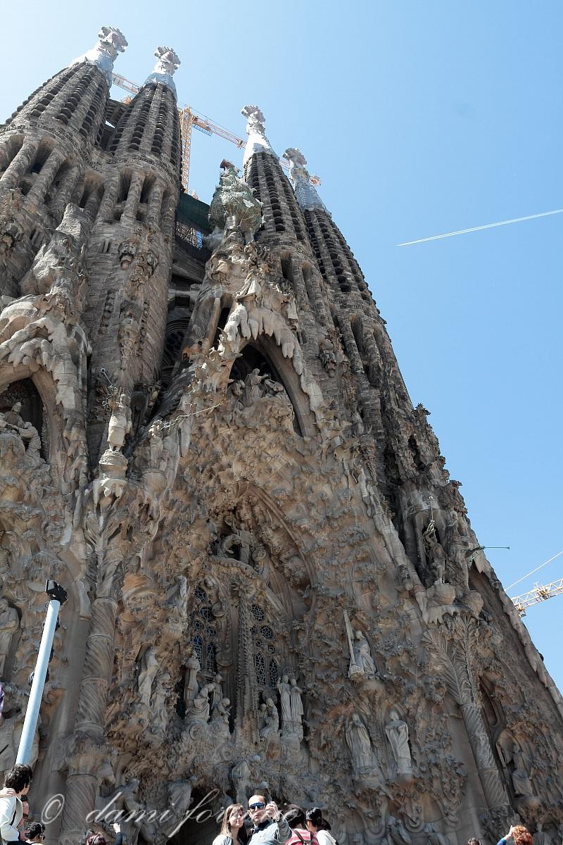 Sagrada Familia: the facade of the Nativity...