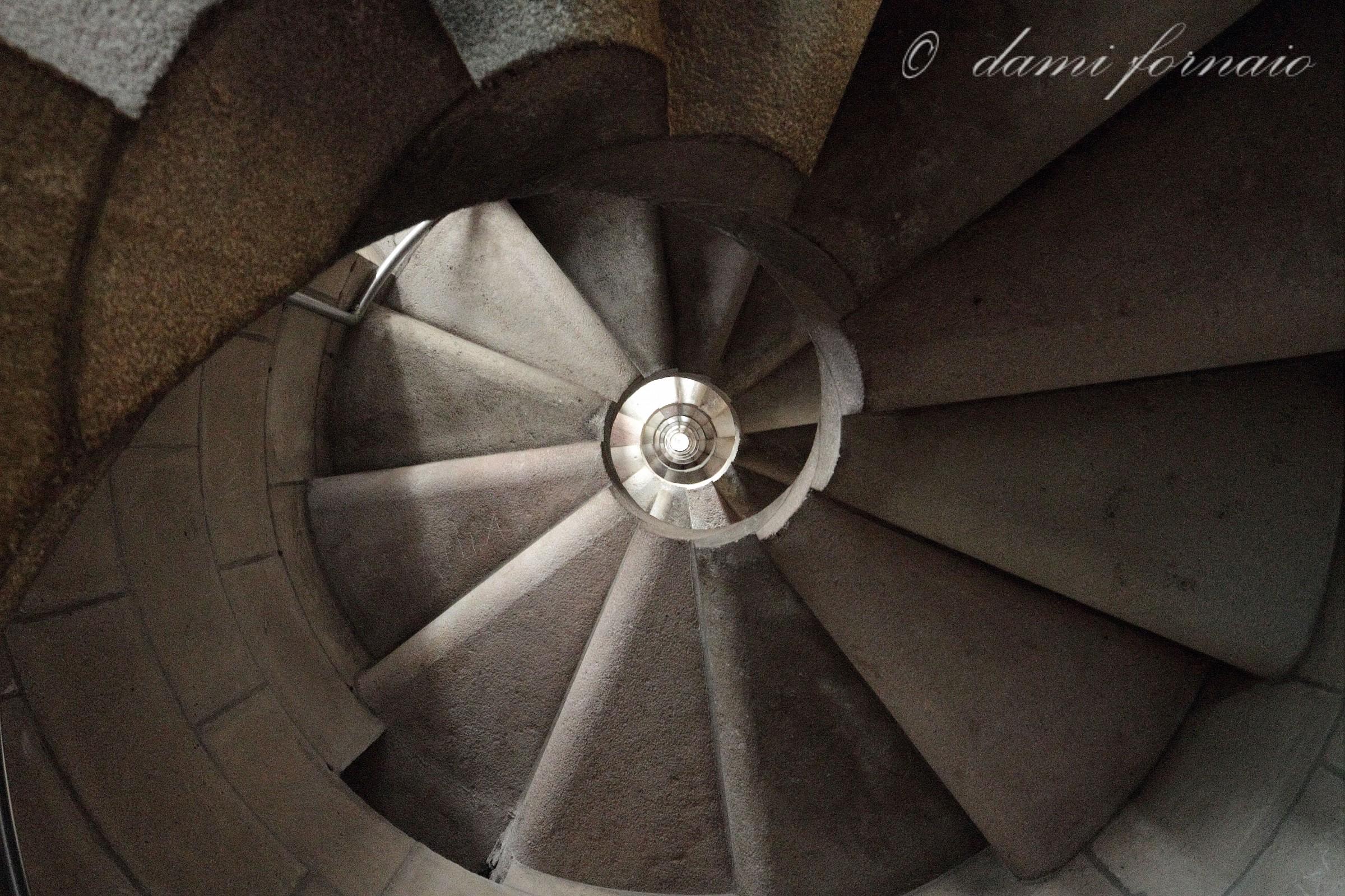 Sagrada Familia: interior of a tower...