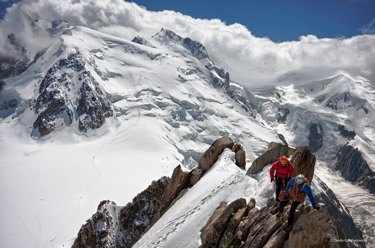 Di ritorno dal Monte Bianco......