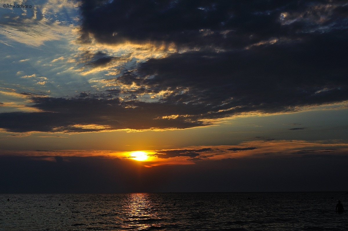 Sunset on the beach of Gallipoli - Lecce...