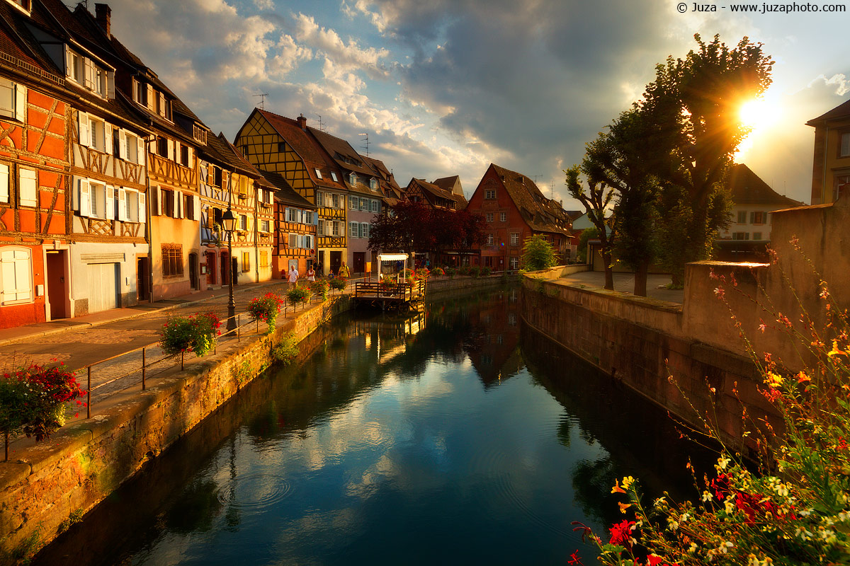 Colmar, sunset and reflection, 015901...