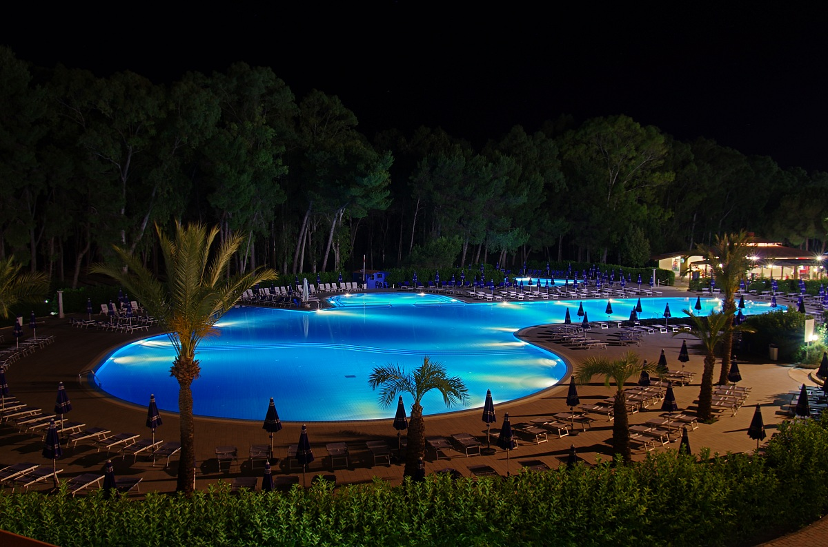 the pool at night .......