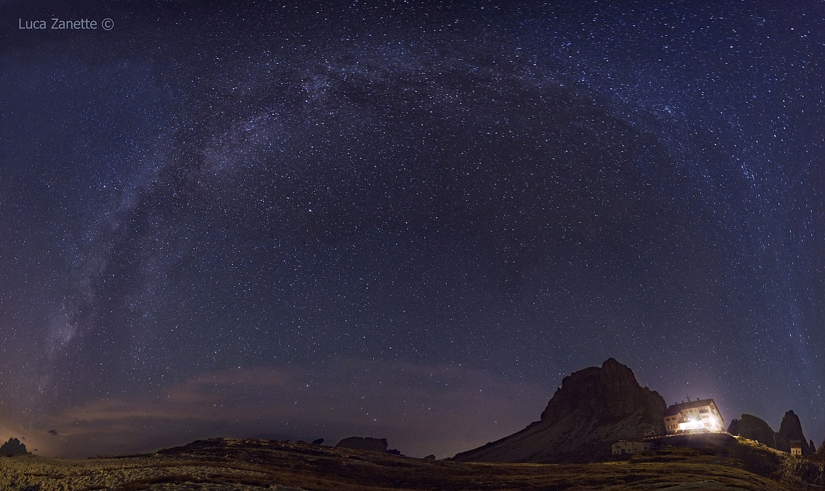 Milky Way from Rifugio Locatelli...