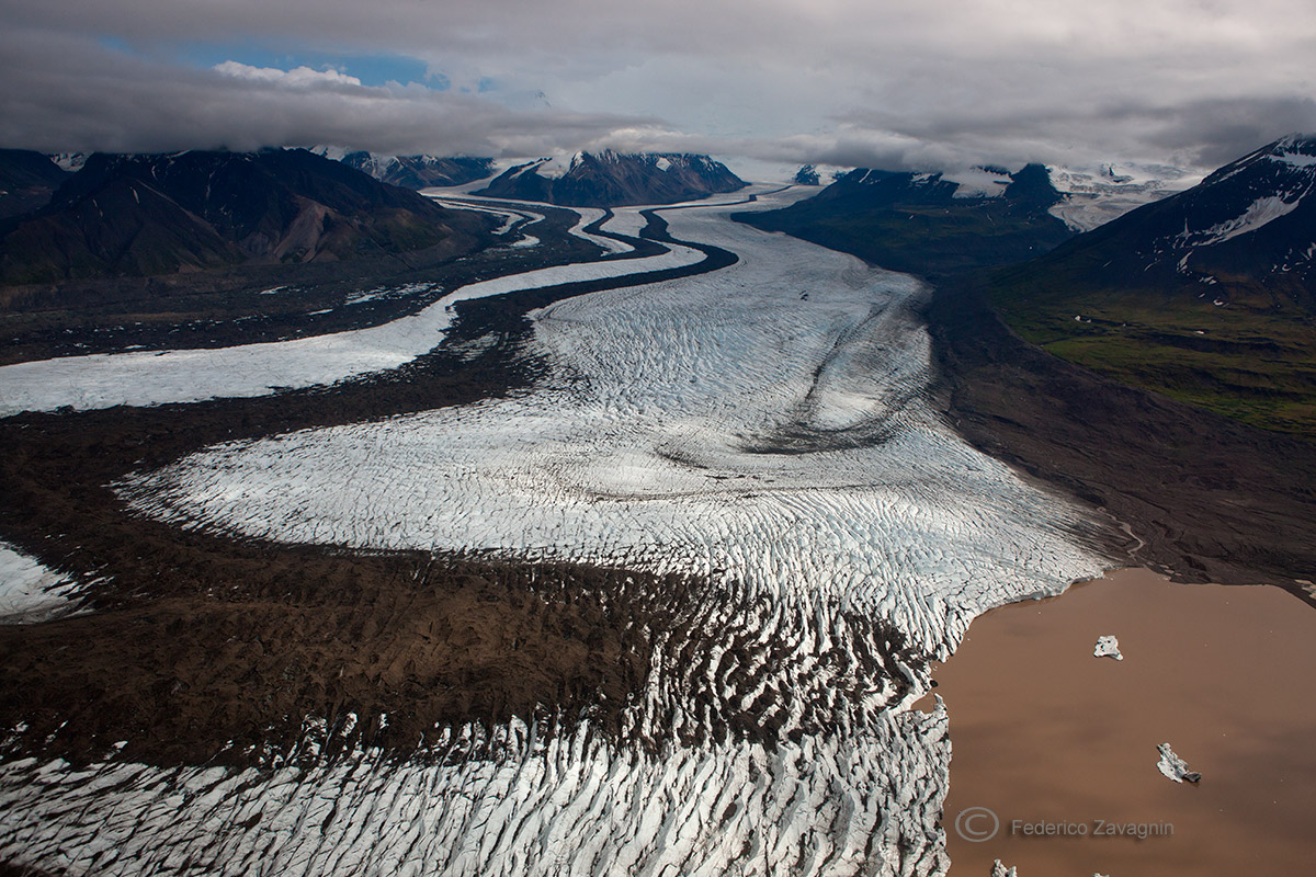 Kennicott Glacier, Wrangell-St.Ellias Nat. Park, Alaska...