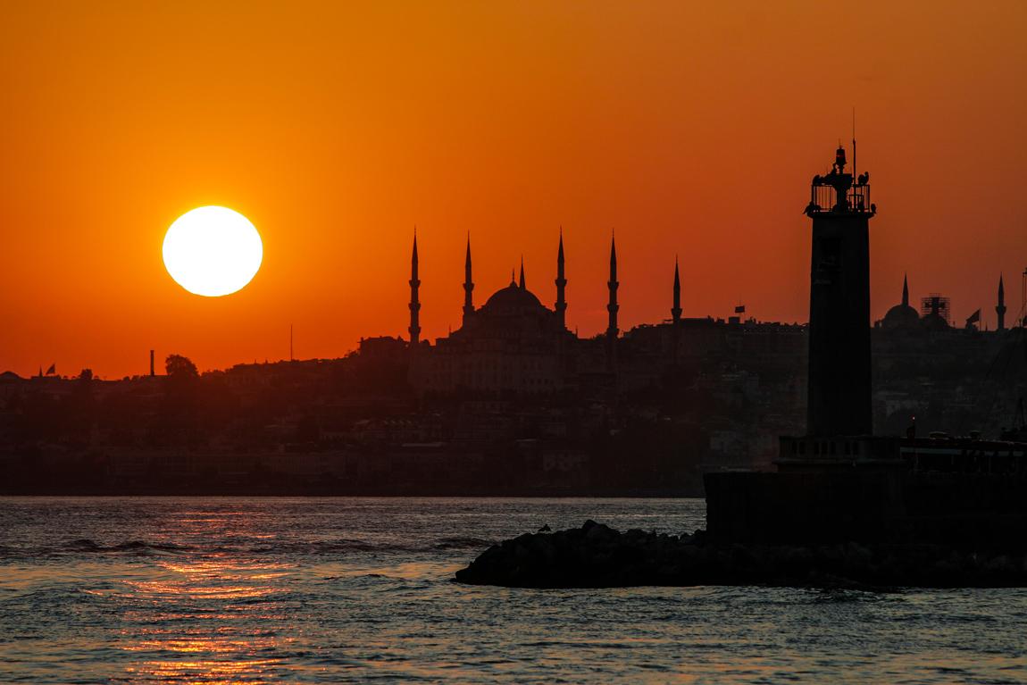 tramonto ad Istanbul...