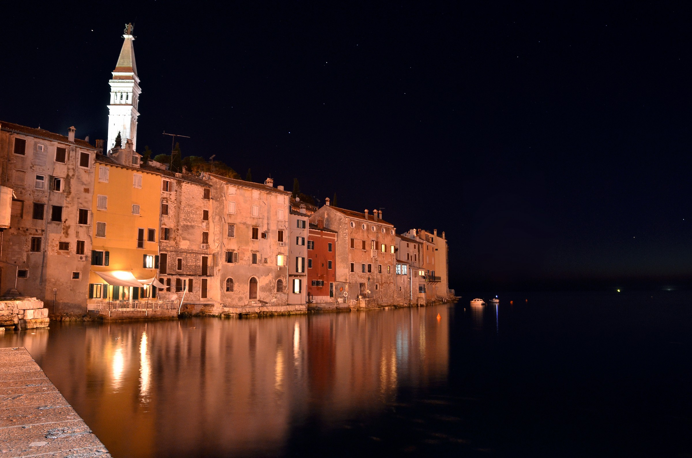 Rovinj by night...