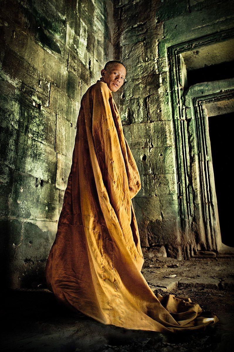 Naga and Buddha, Cambodia...