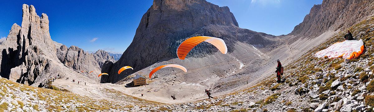 1,2,3 flight Dolomites...