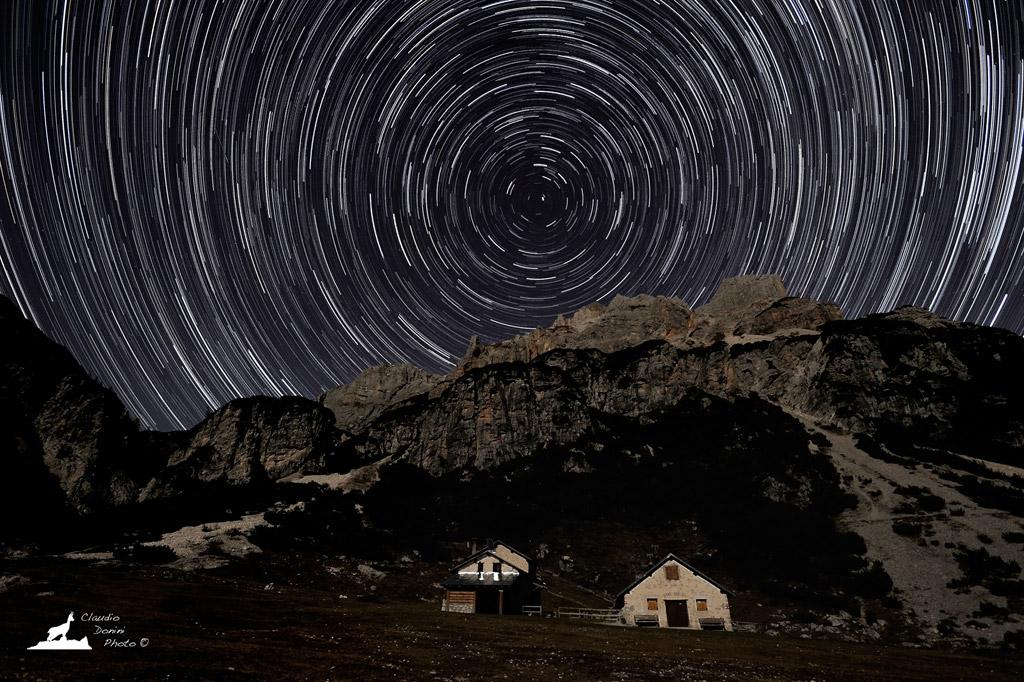 In hut under the stars ......