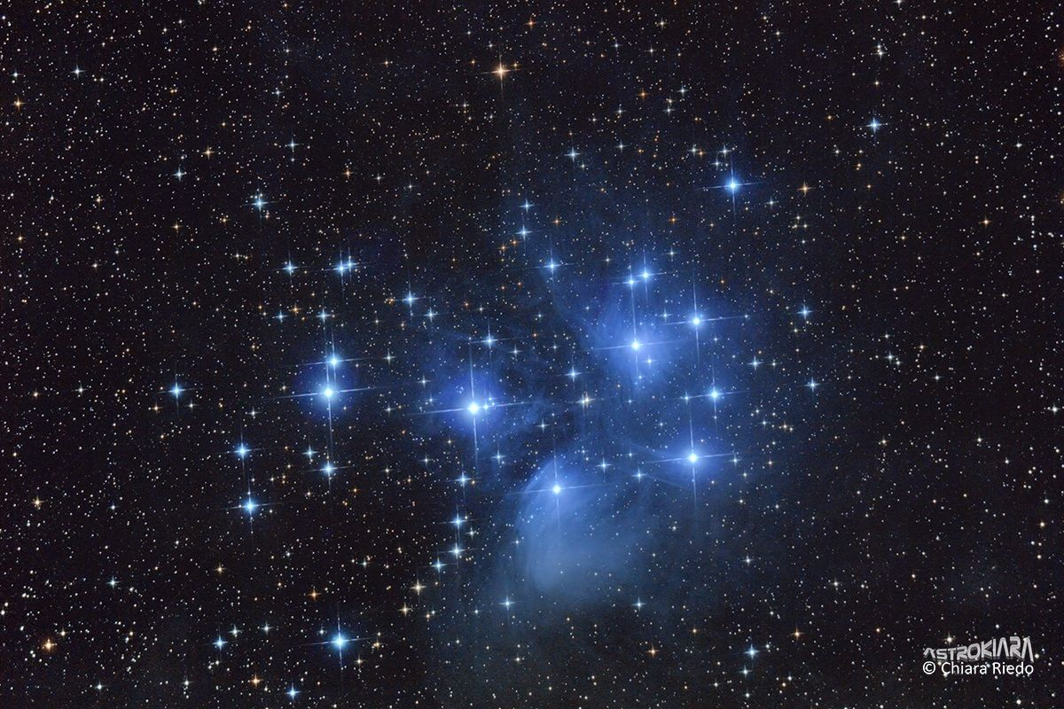 The Pleiades: the blue depths of the sky...
