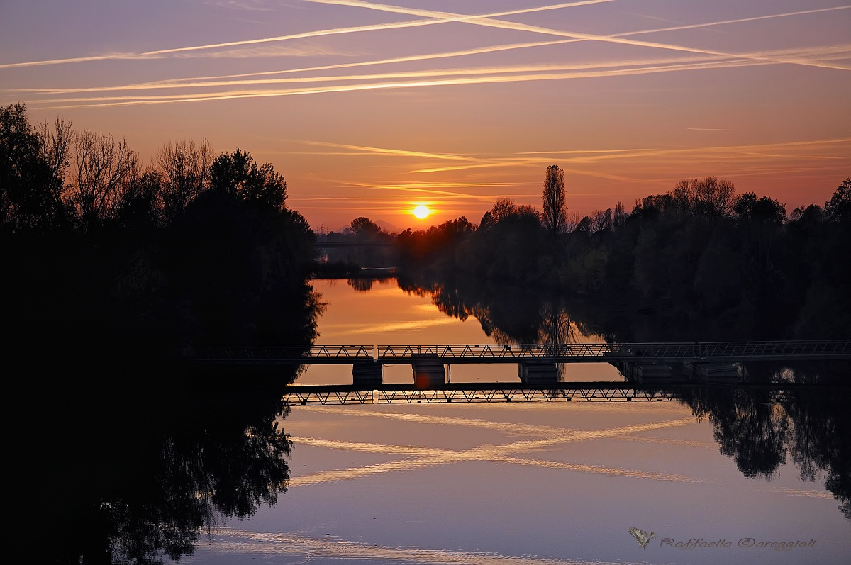 Sunset sull'idrovia Vigonovo...
