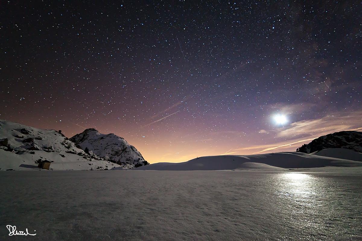 Crepuscolo sul Lago di Valparola...