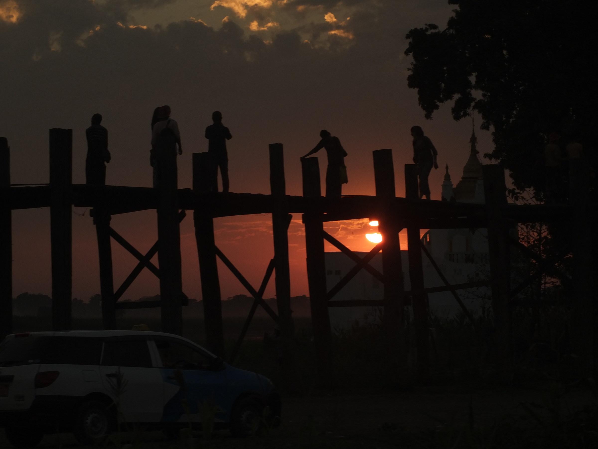 Myanmar/Teak Bridge at sunset...