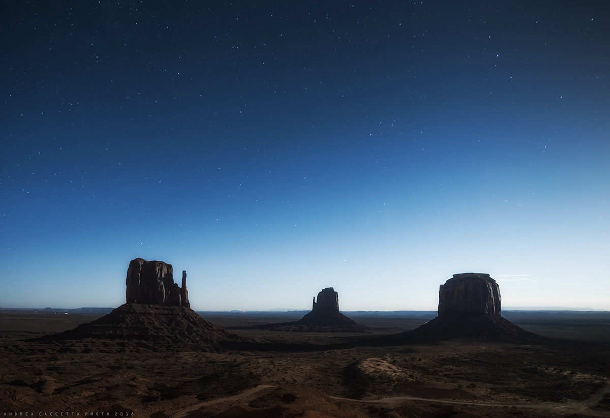 Moonlight on Monument Valley...