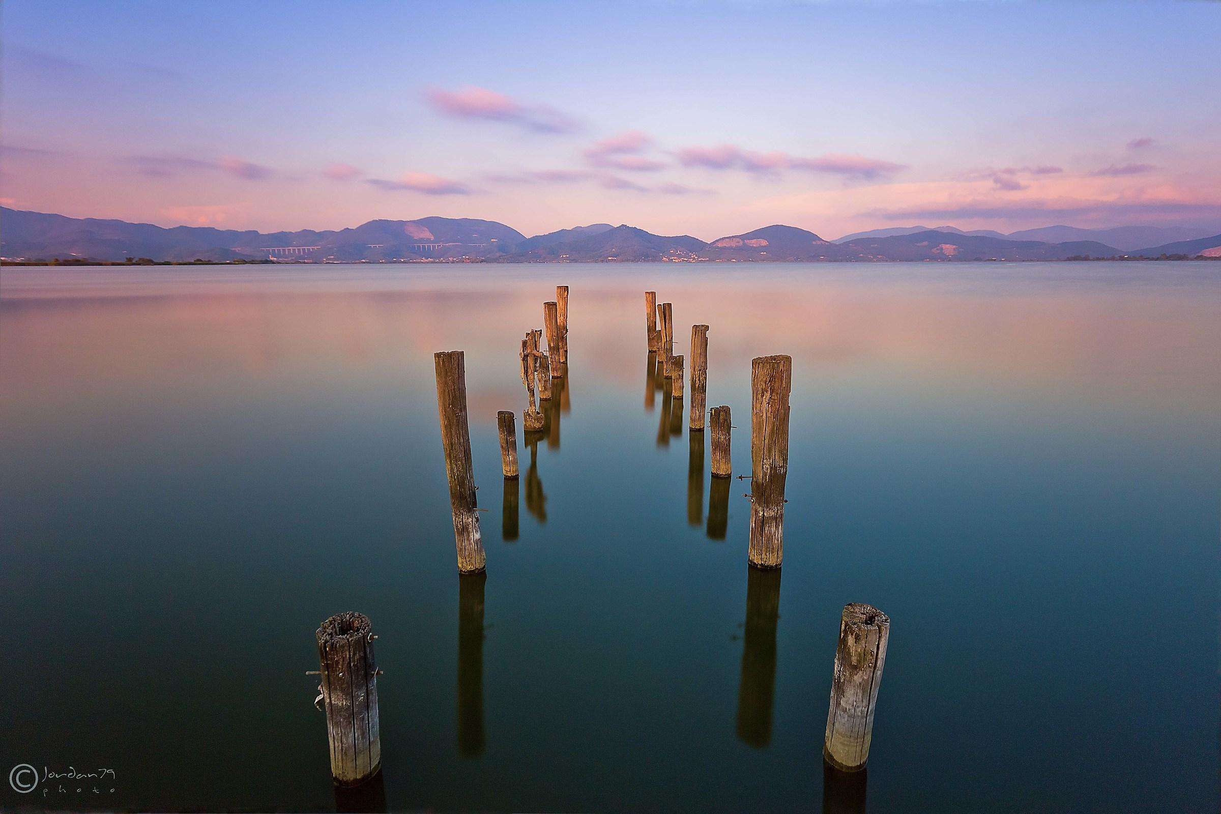 Sunset on the Lake of Massaciuccoli...