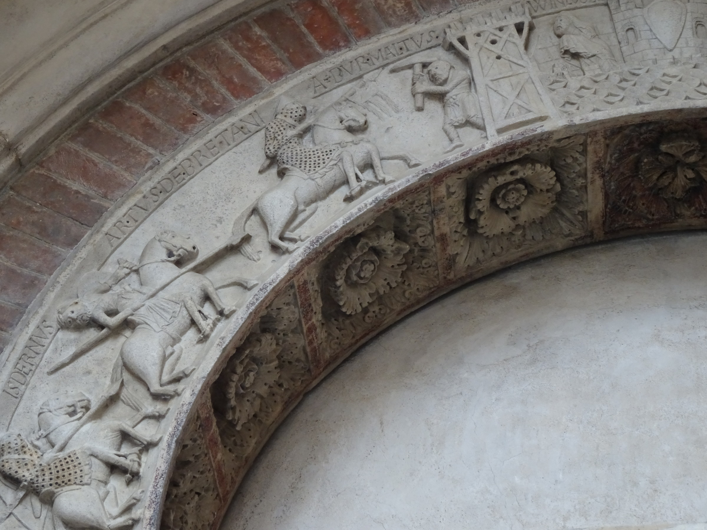 A piece of the cycle of King Arthur-Duomo of Modena...