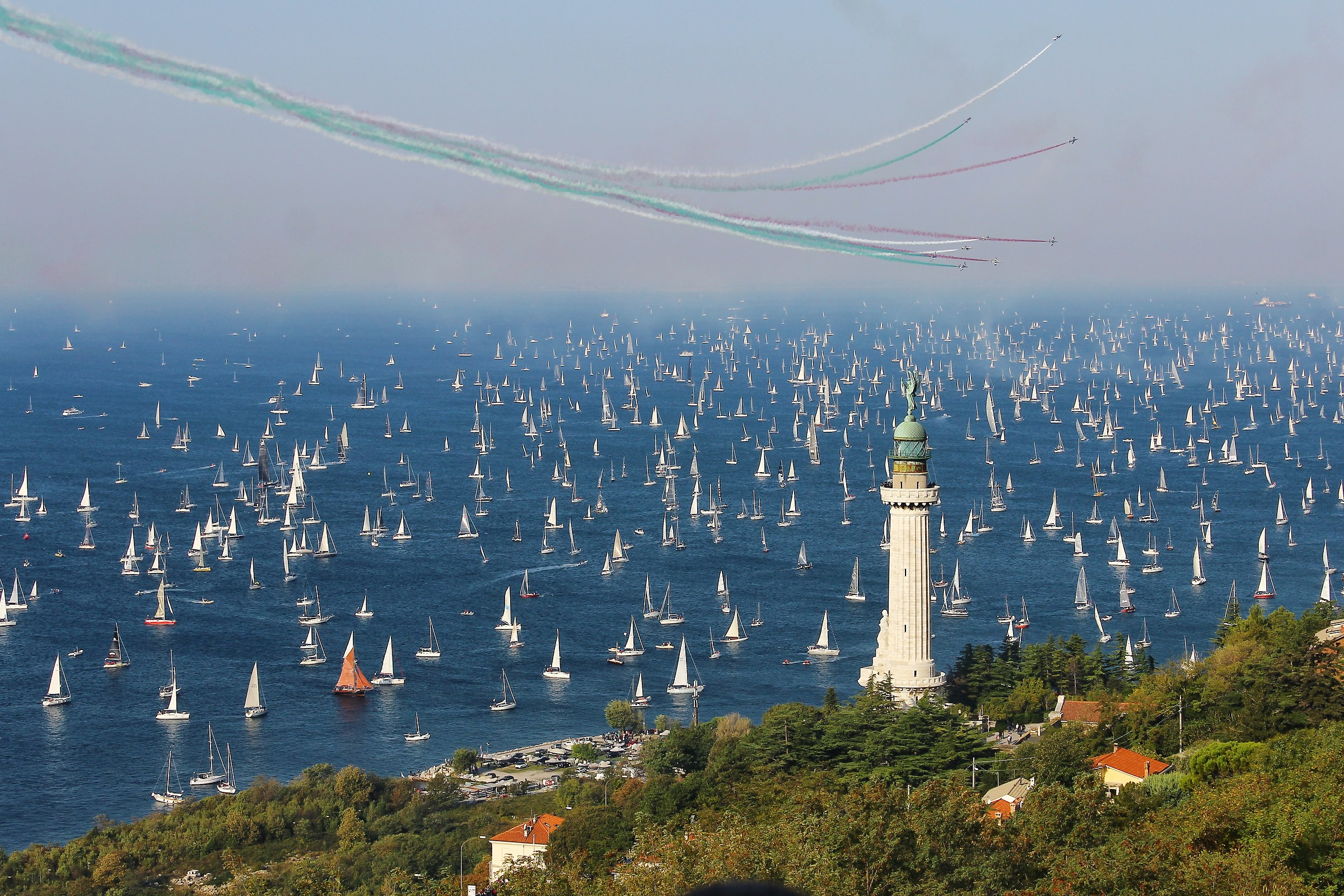 The departure of the 50th Barcolana...