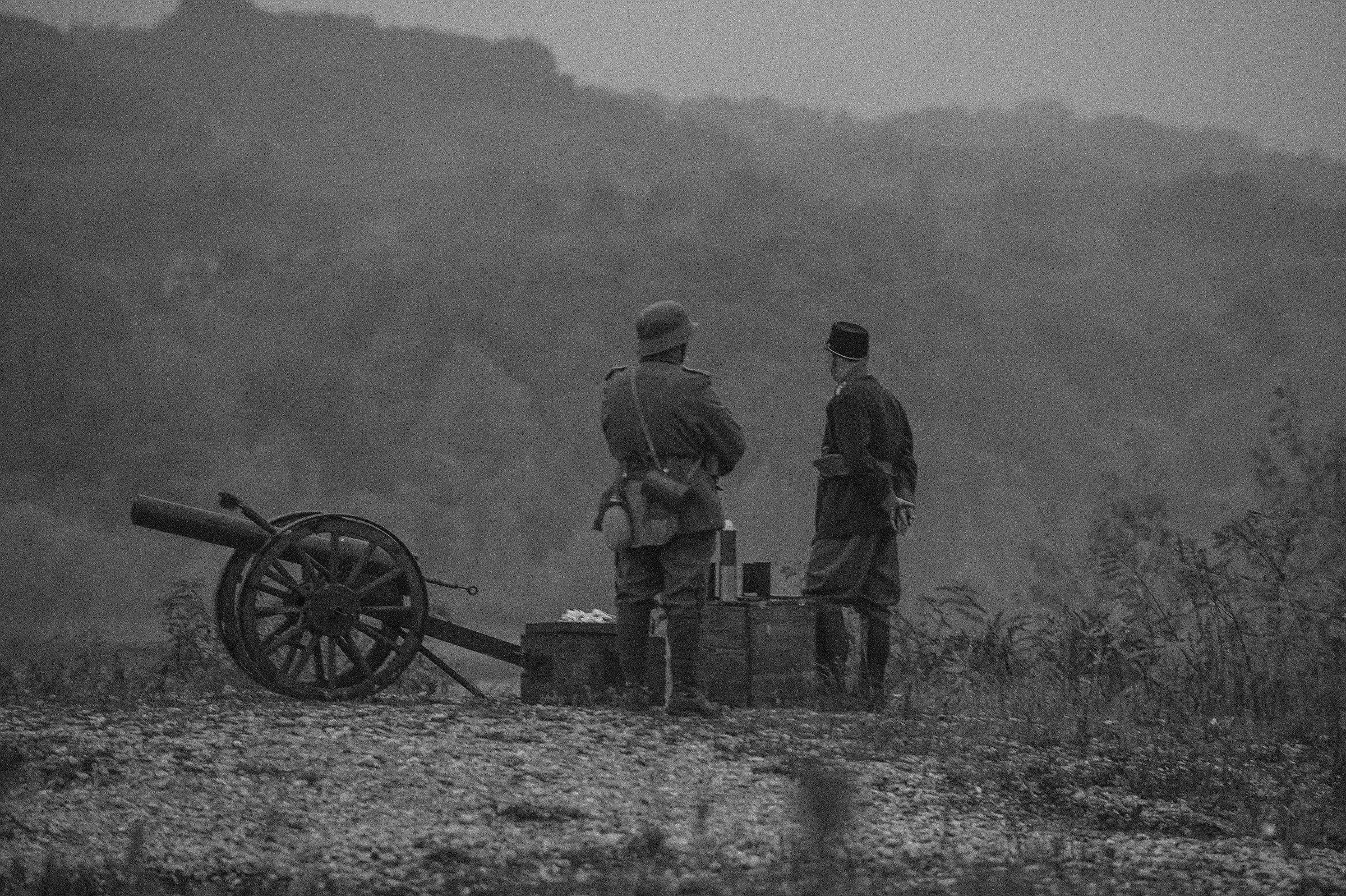 Re-enactation of the final battle of 100 years ago on ...