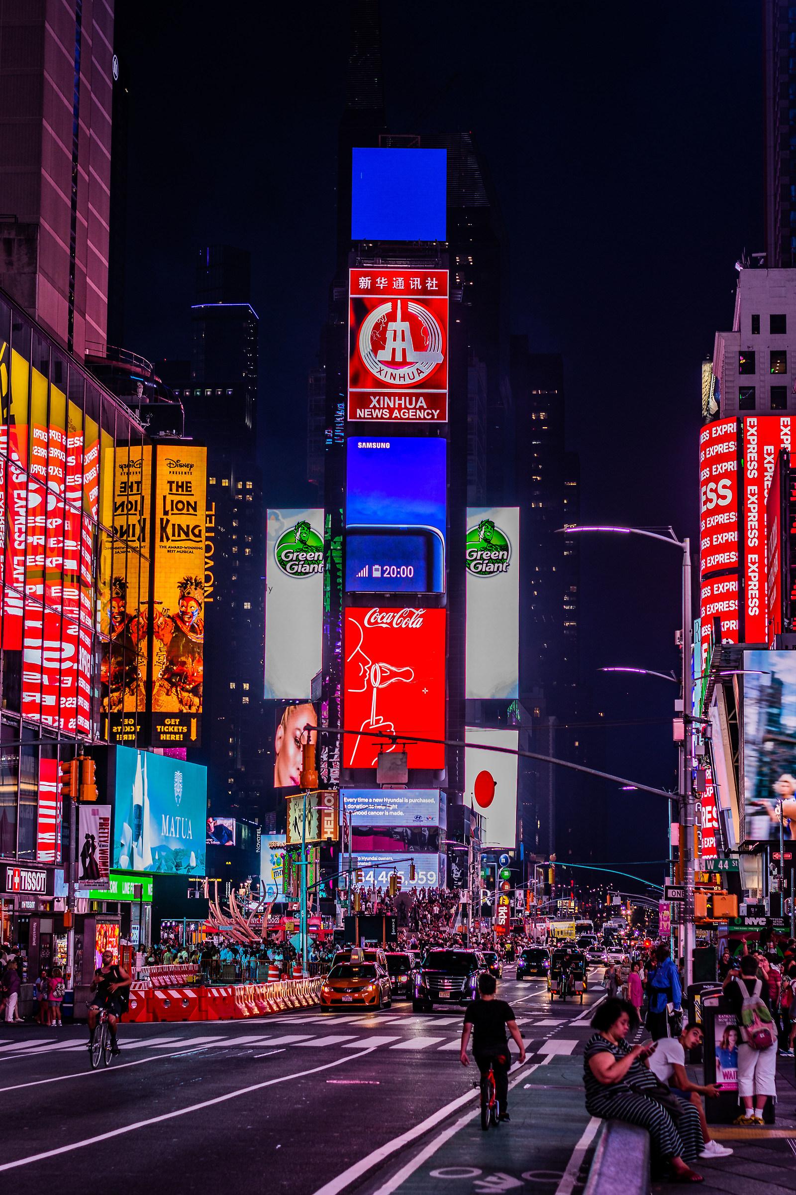 NEW YORK at night...