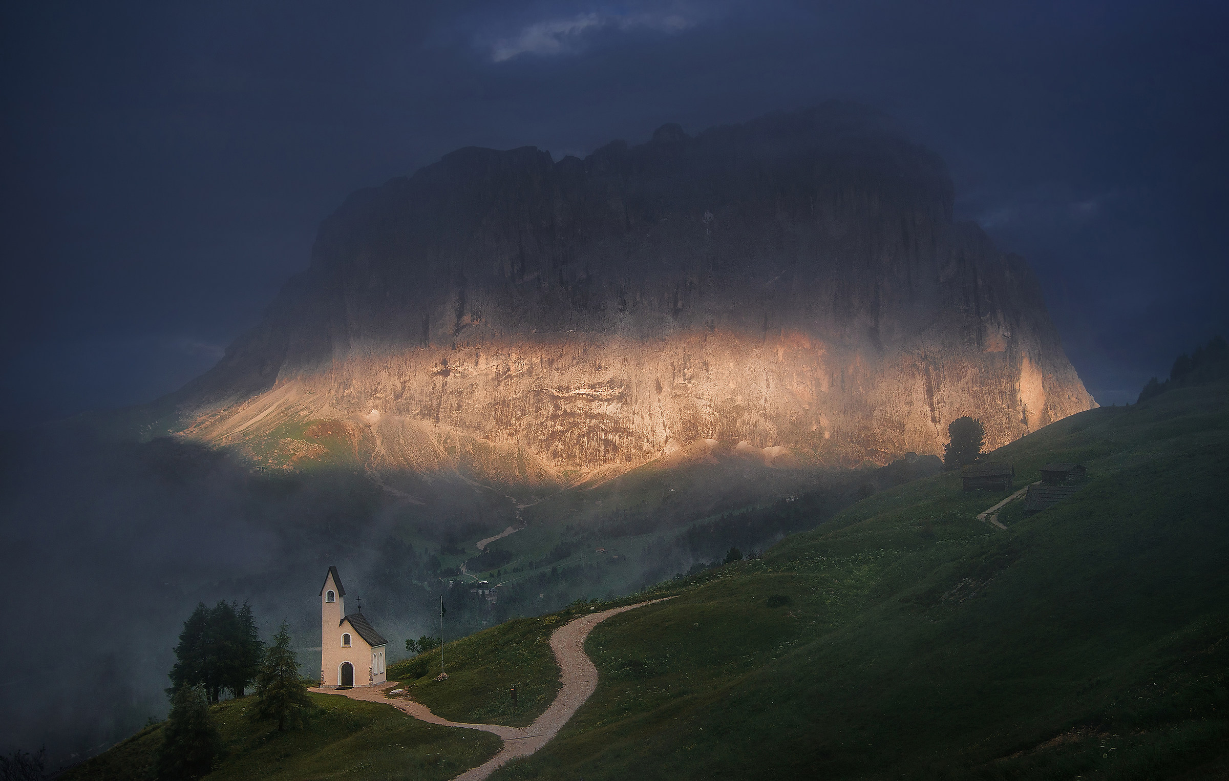 Chapel in the Dolomites...