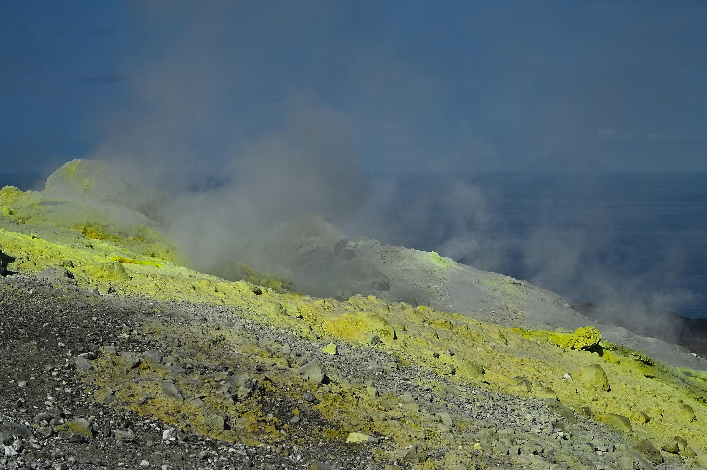 Between Sulphur and steam...