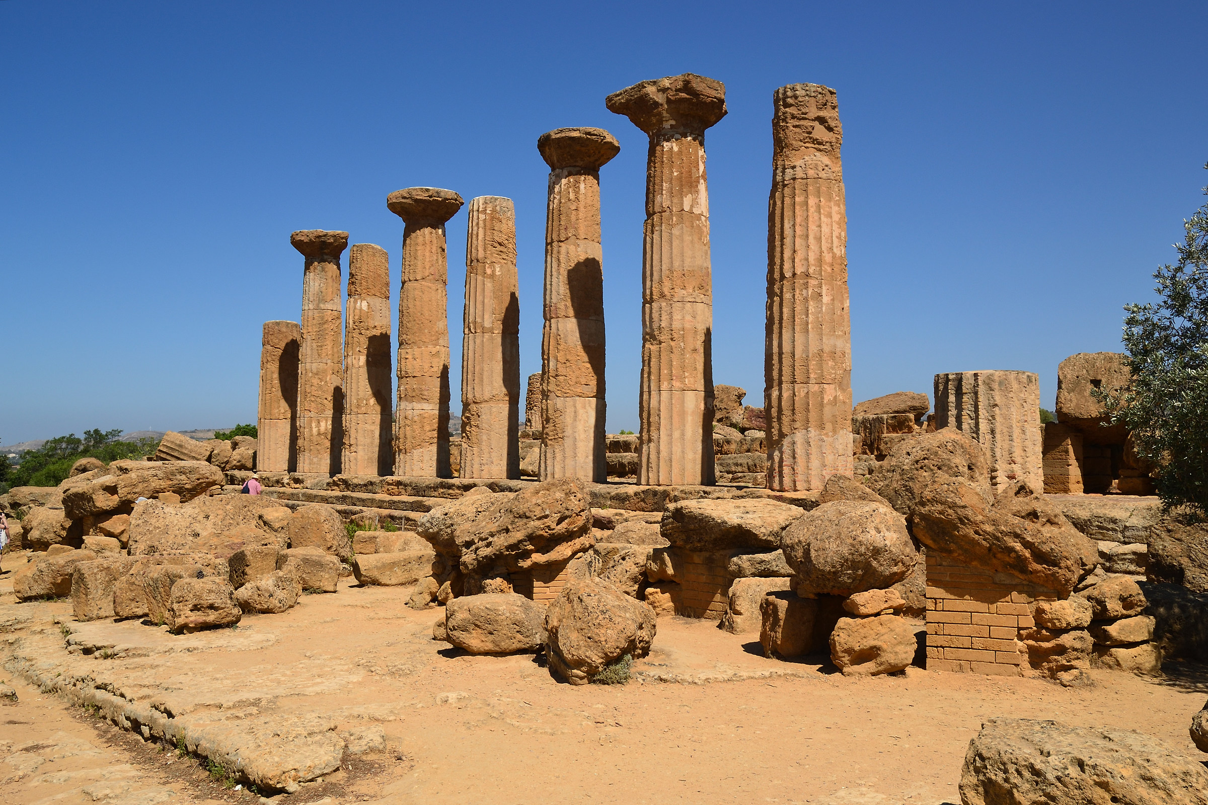 The Temple of Hercules, Valley of the temples Agrigento...