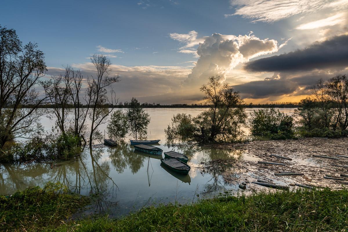 The flood of the Po in Polesine-November 2018...