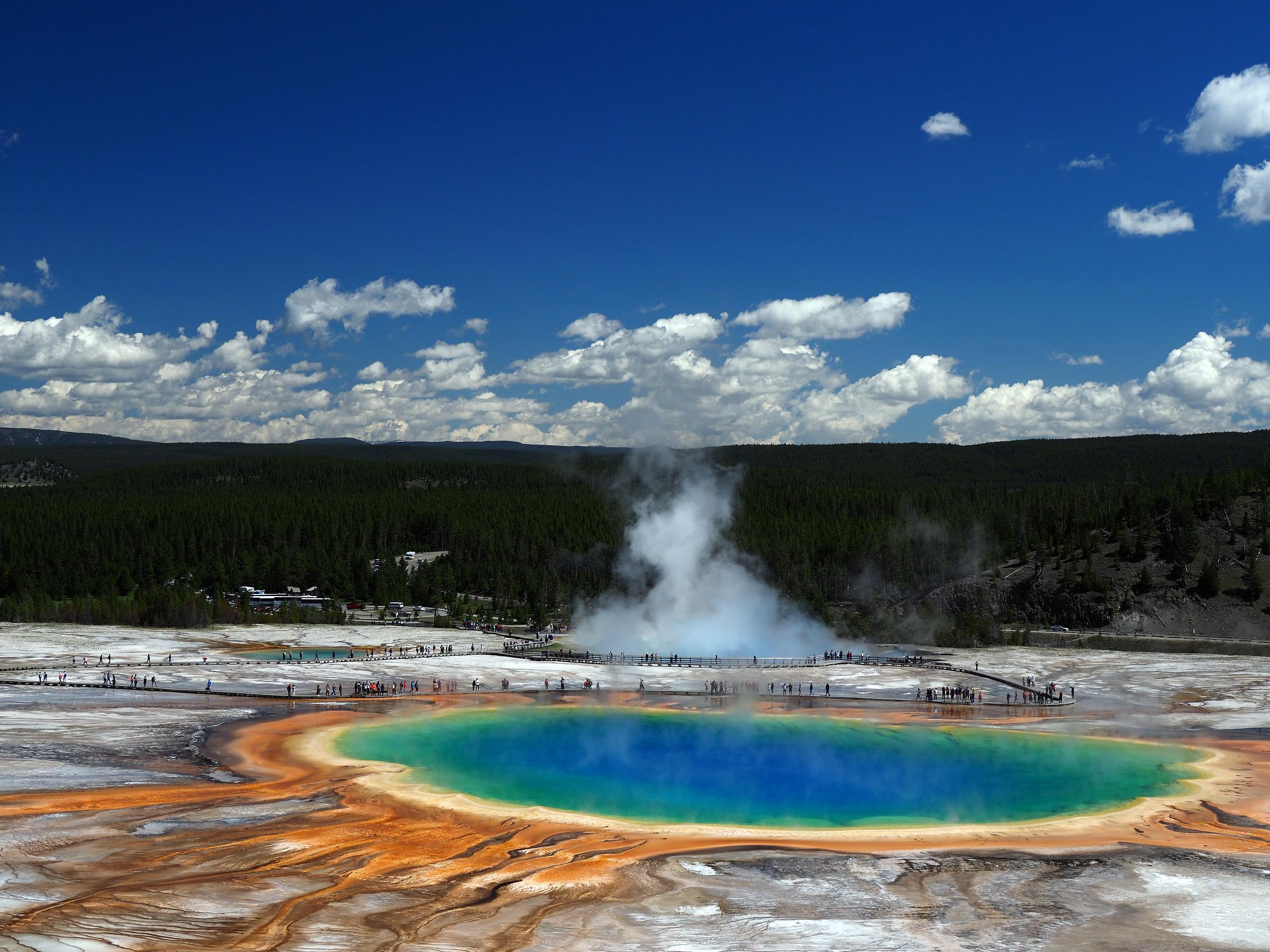 Yellowstone: Grand Prismatic panorama...