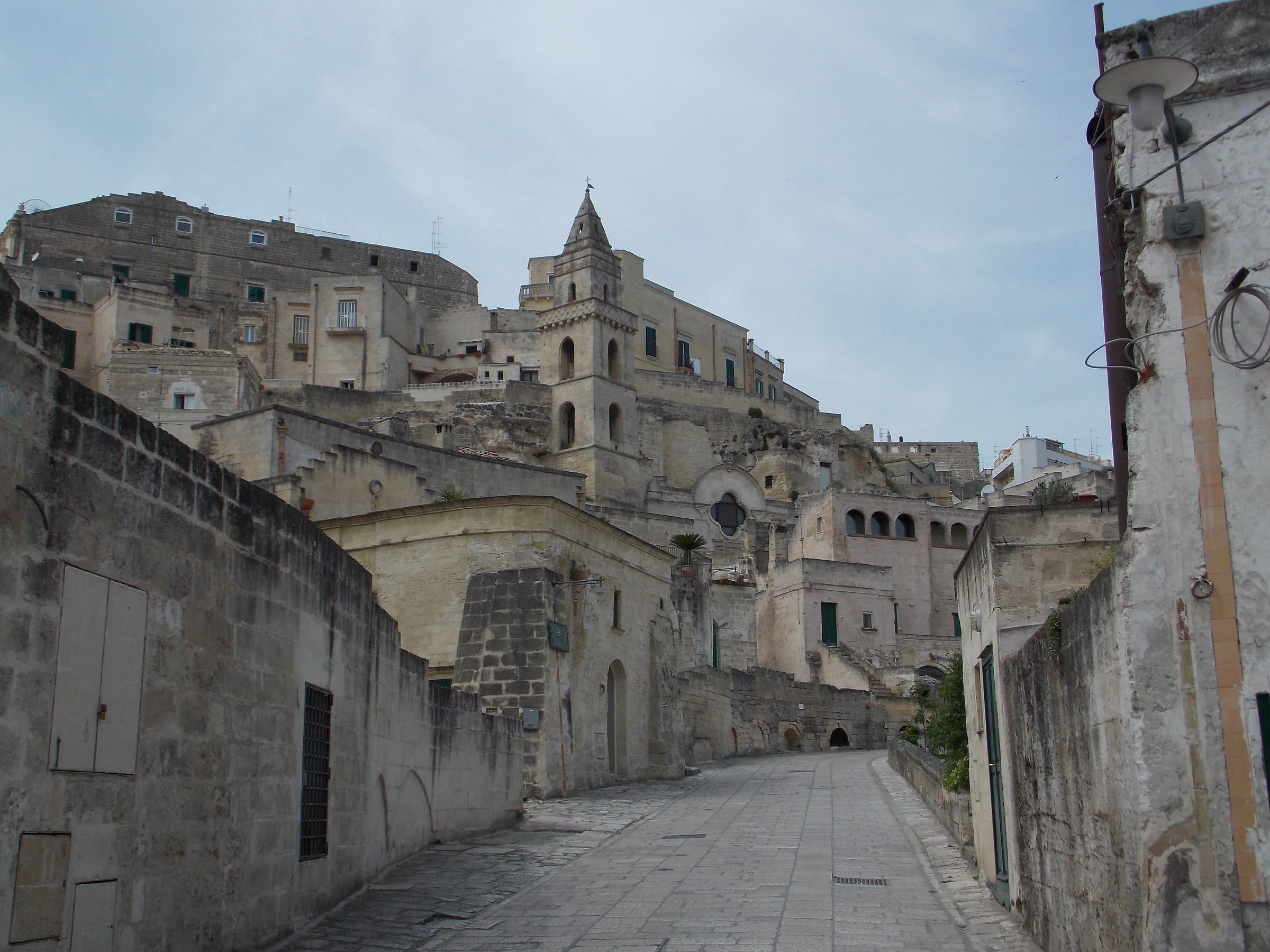 Walking in Matera...