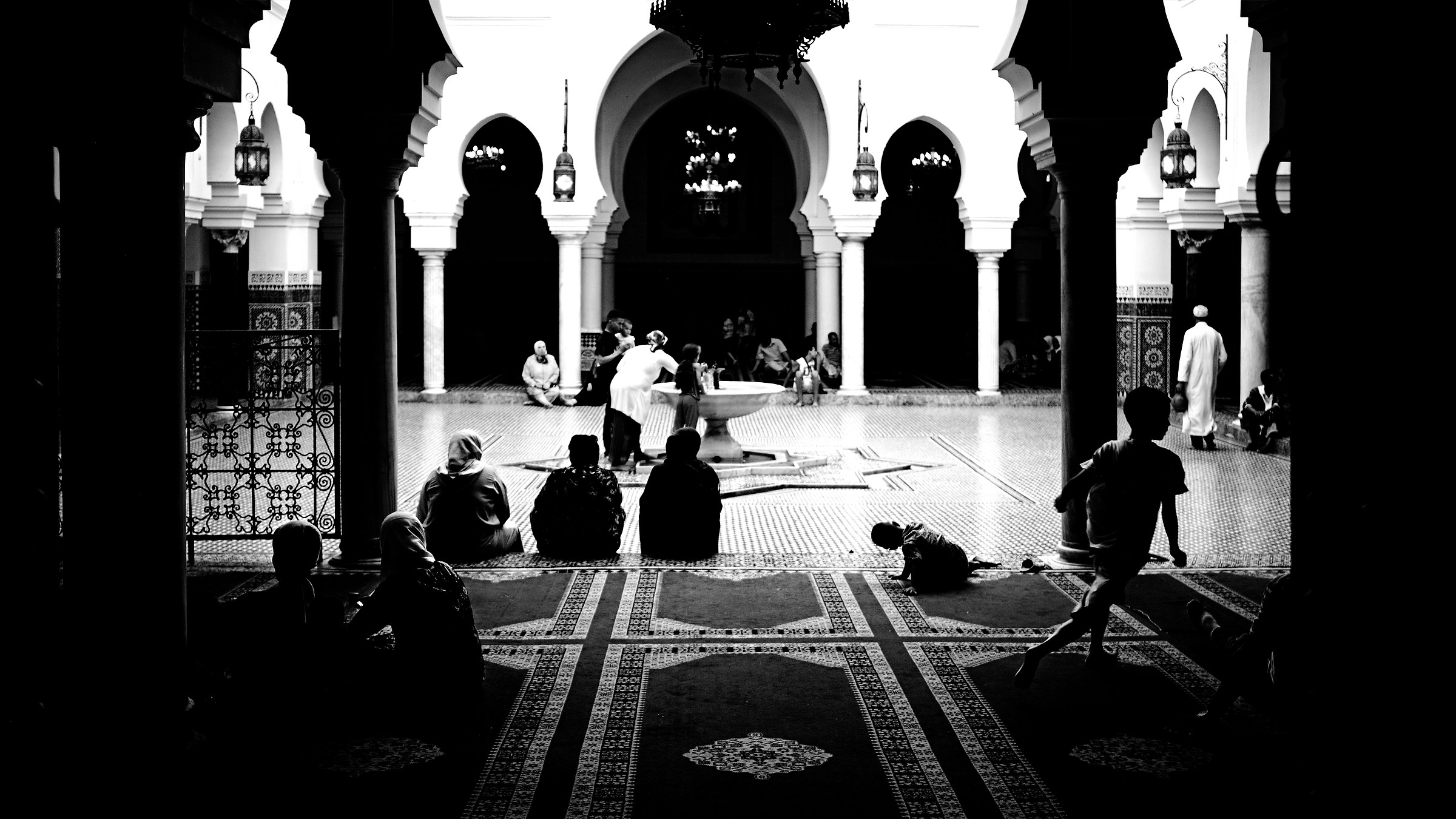 The mosque...