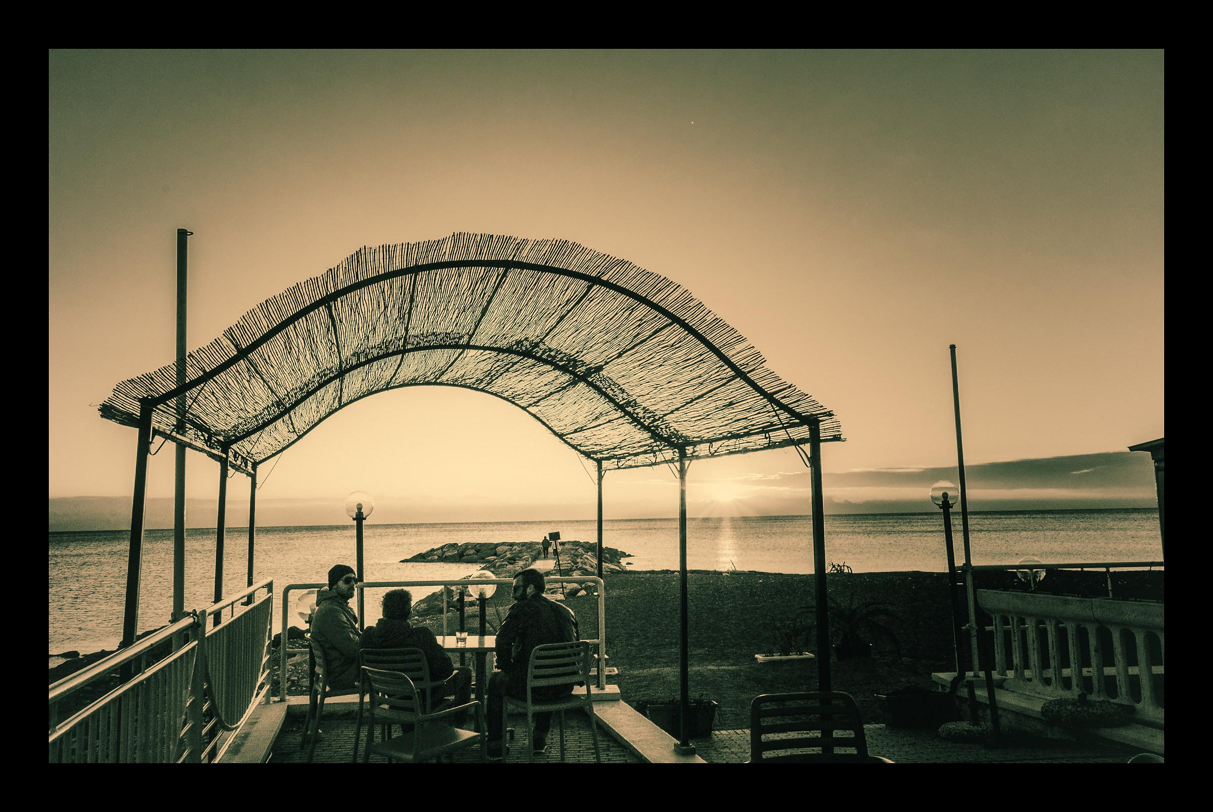 The Terrace on the sea...