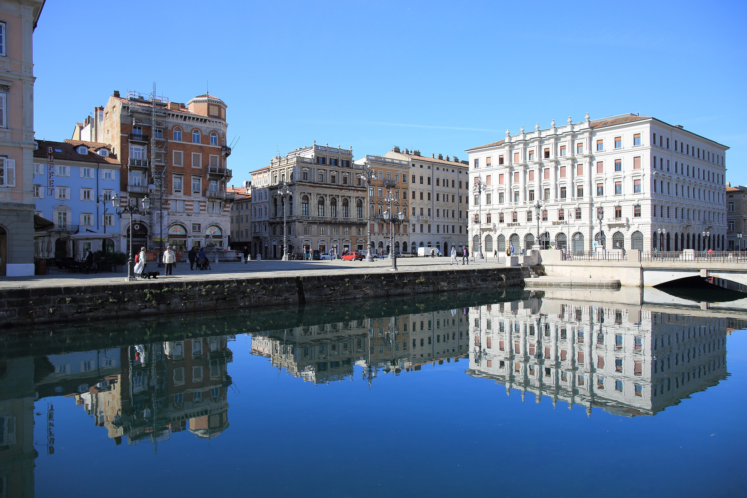 Trieste-Square of the Red Bridge...