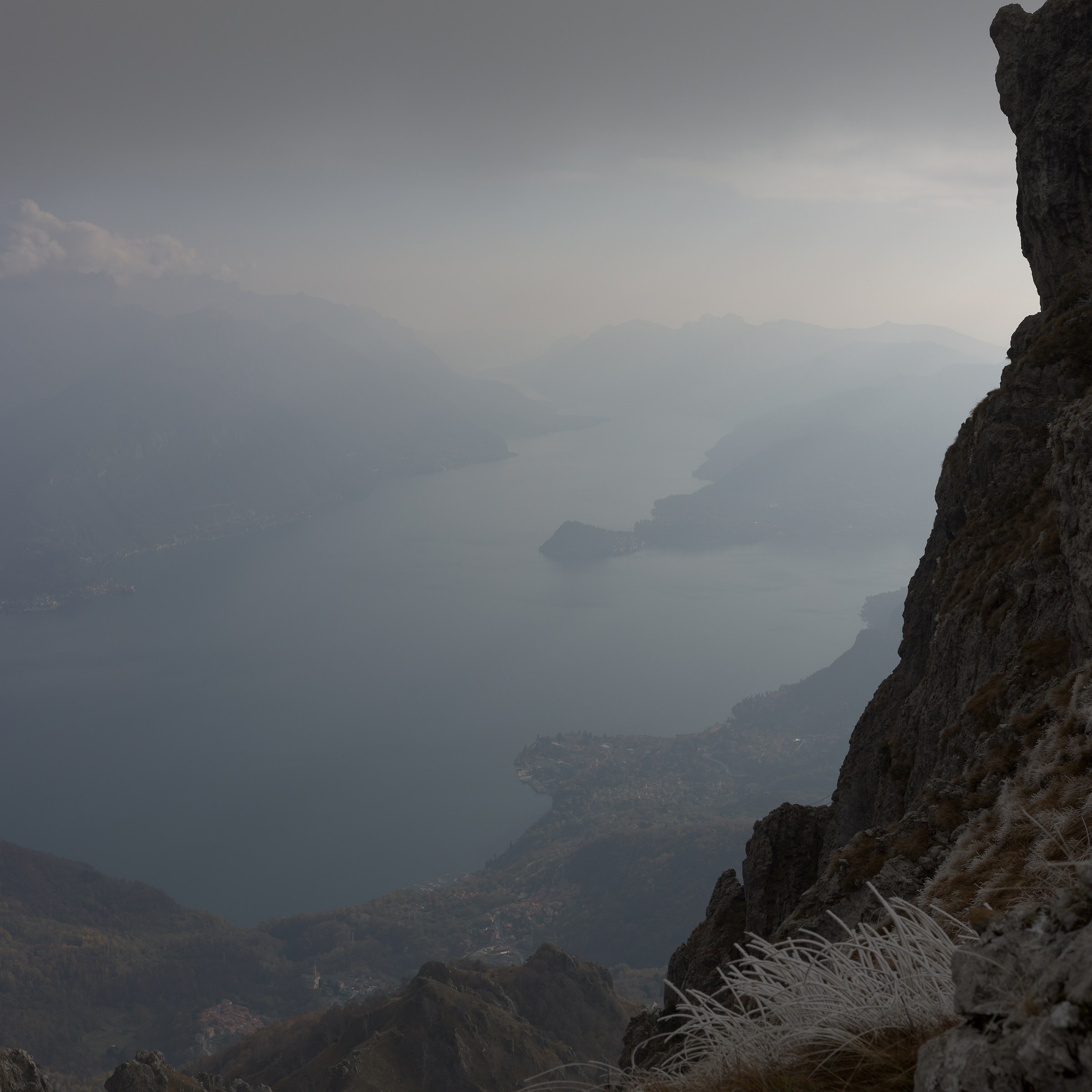 View of Lake Como from the top of Grona...