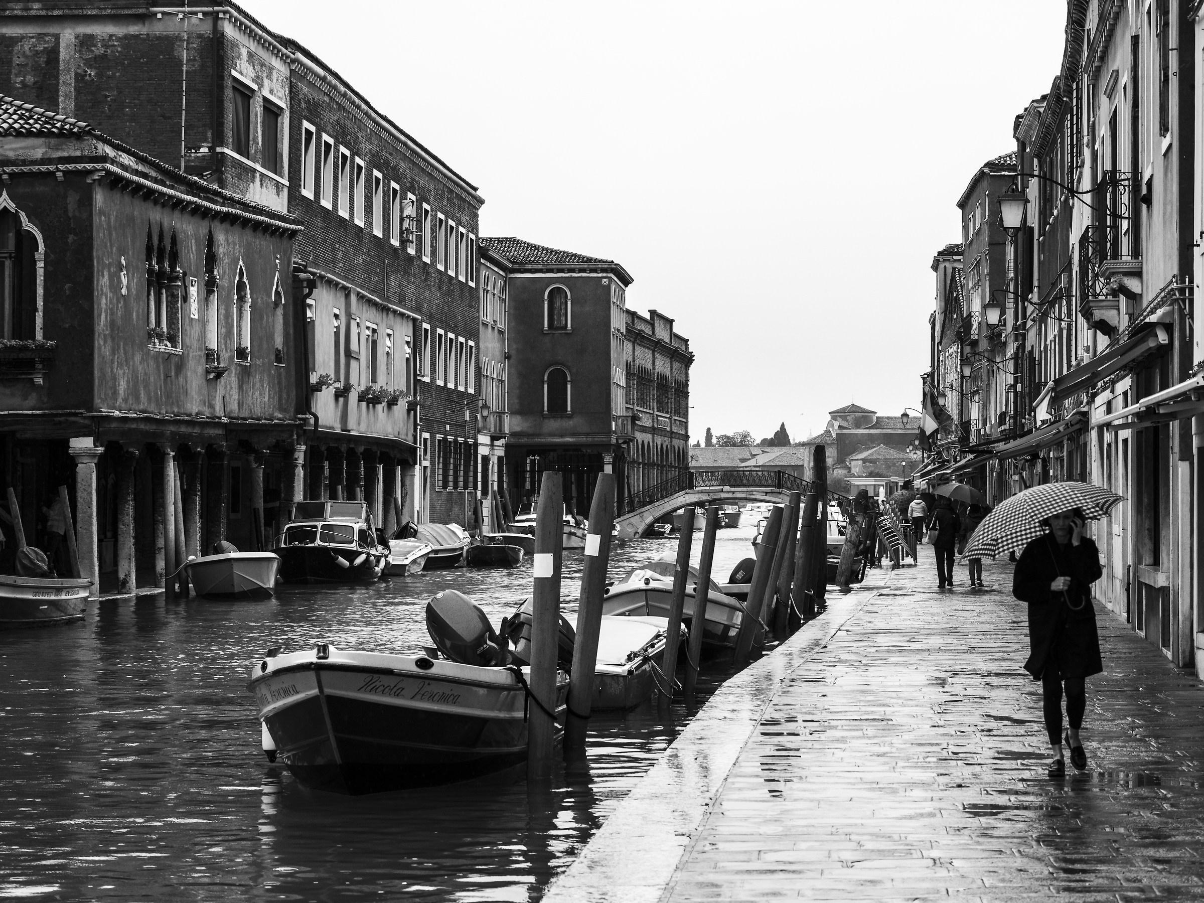 Giornata piovosa a Murano...