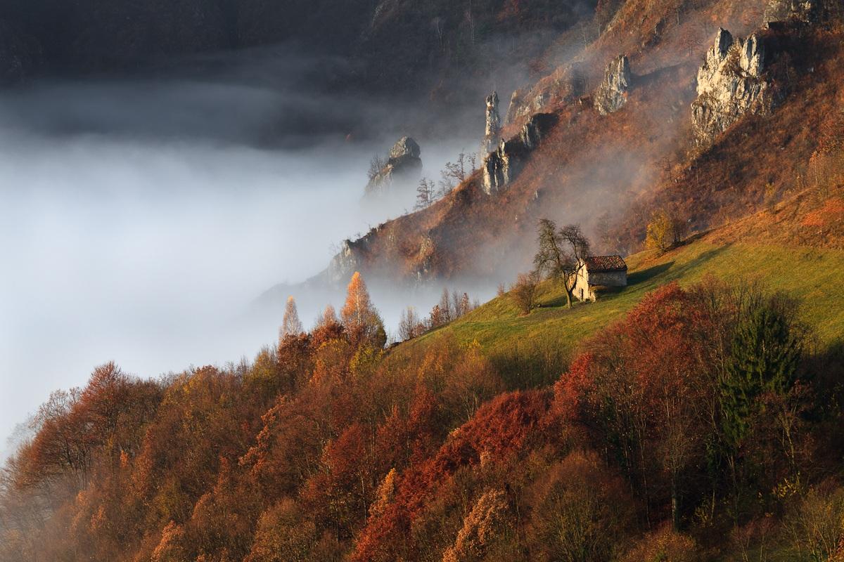 La nebbia agli irti colli........