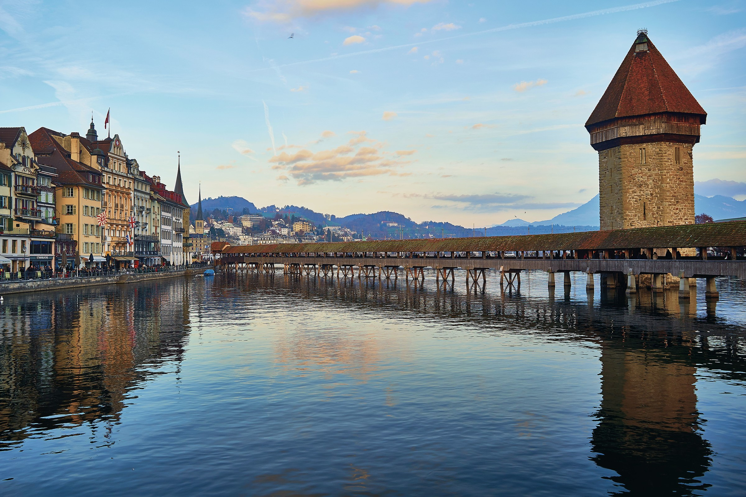 Classic view of Luzern...