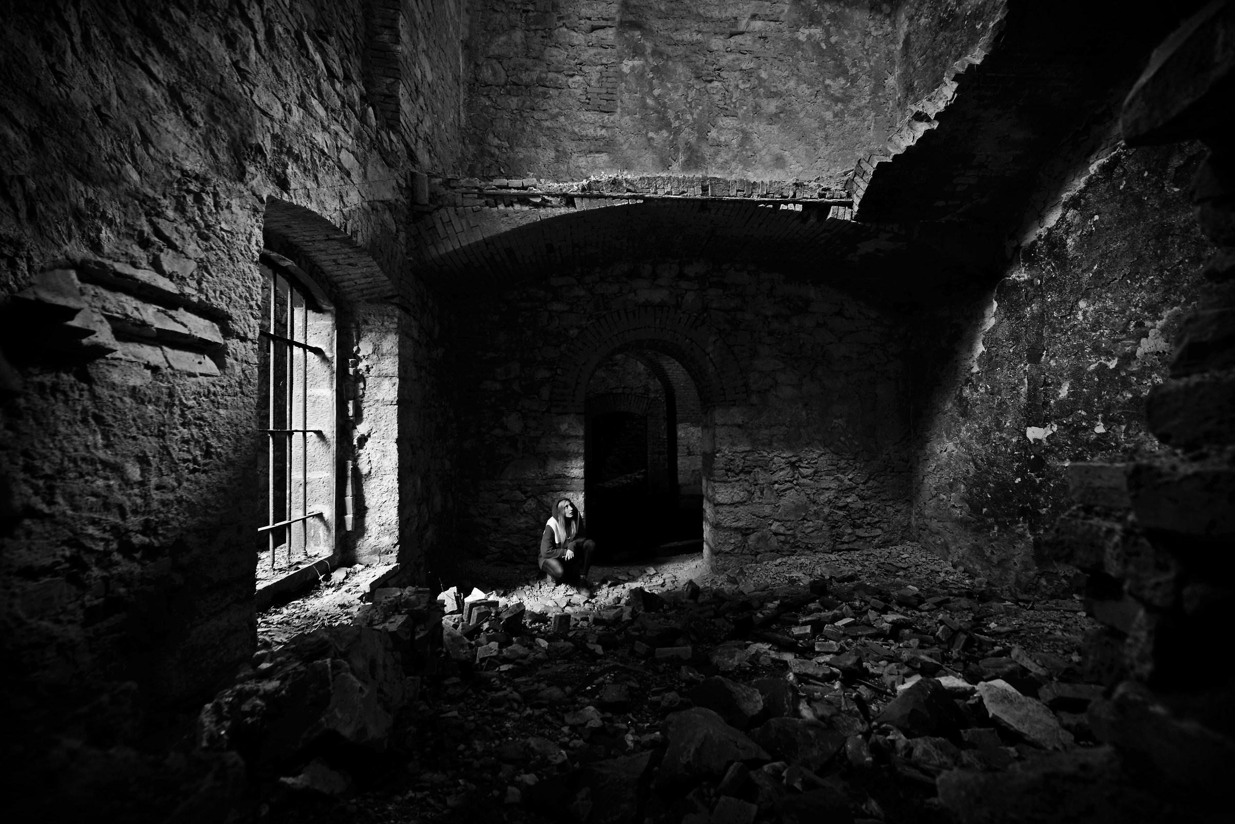 Among the ruins...