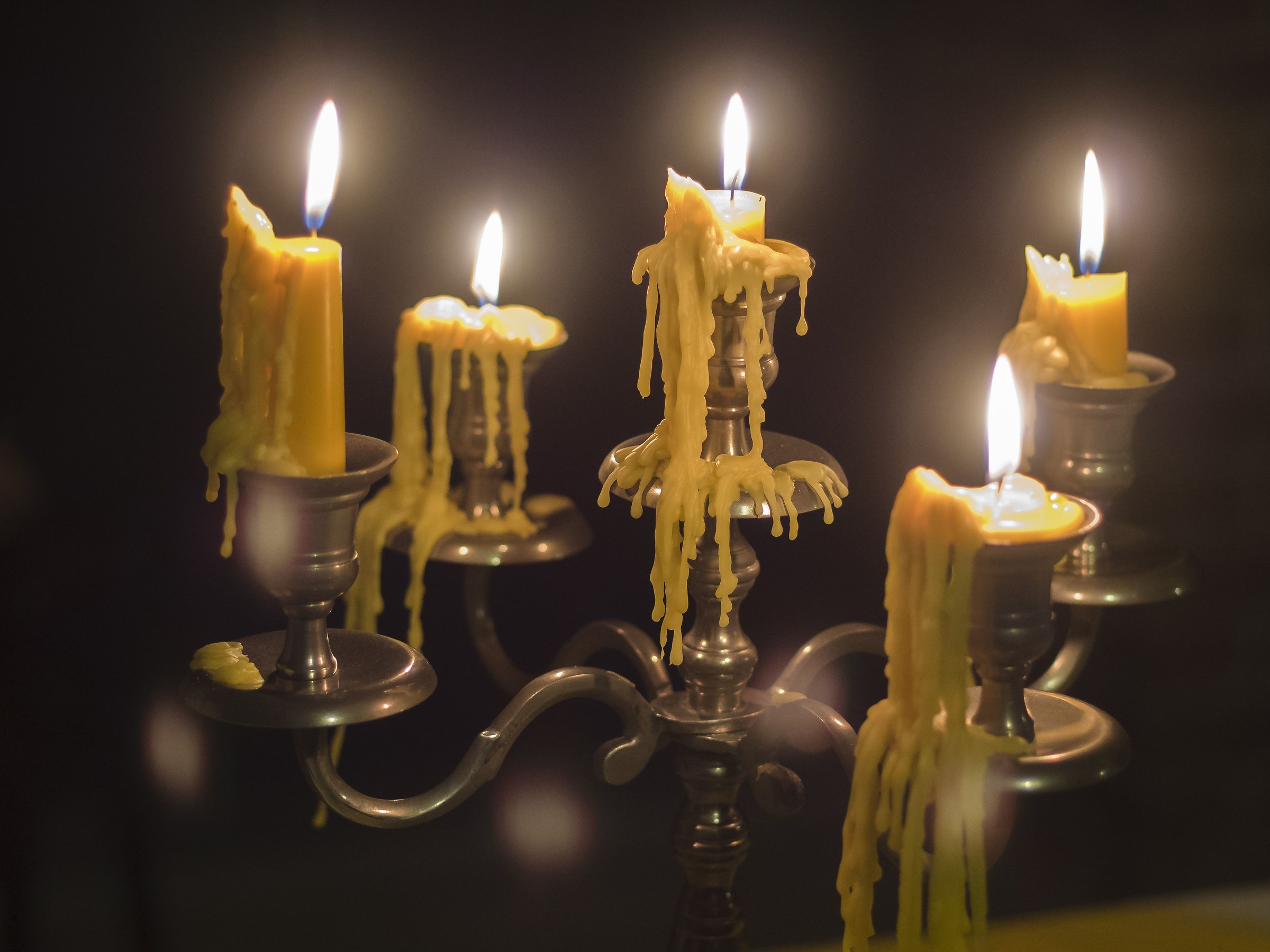 Candle light...