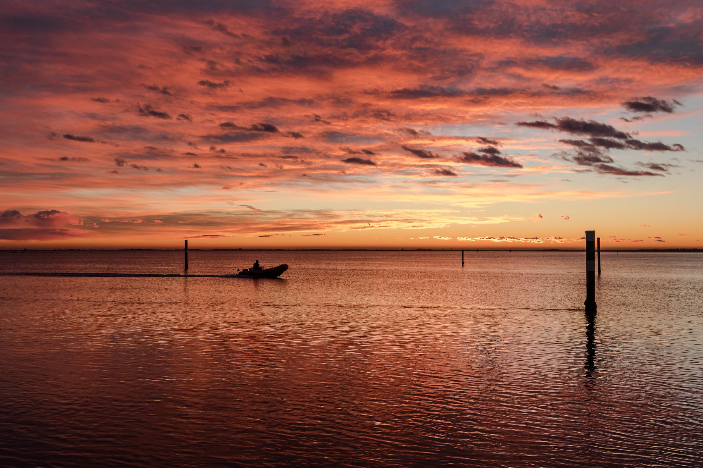 Sunset over the Gulf of Panzano...