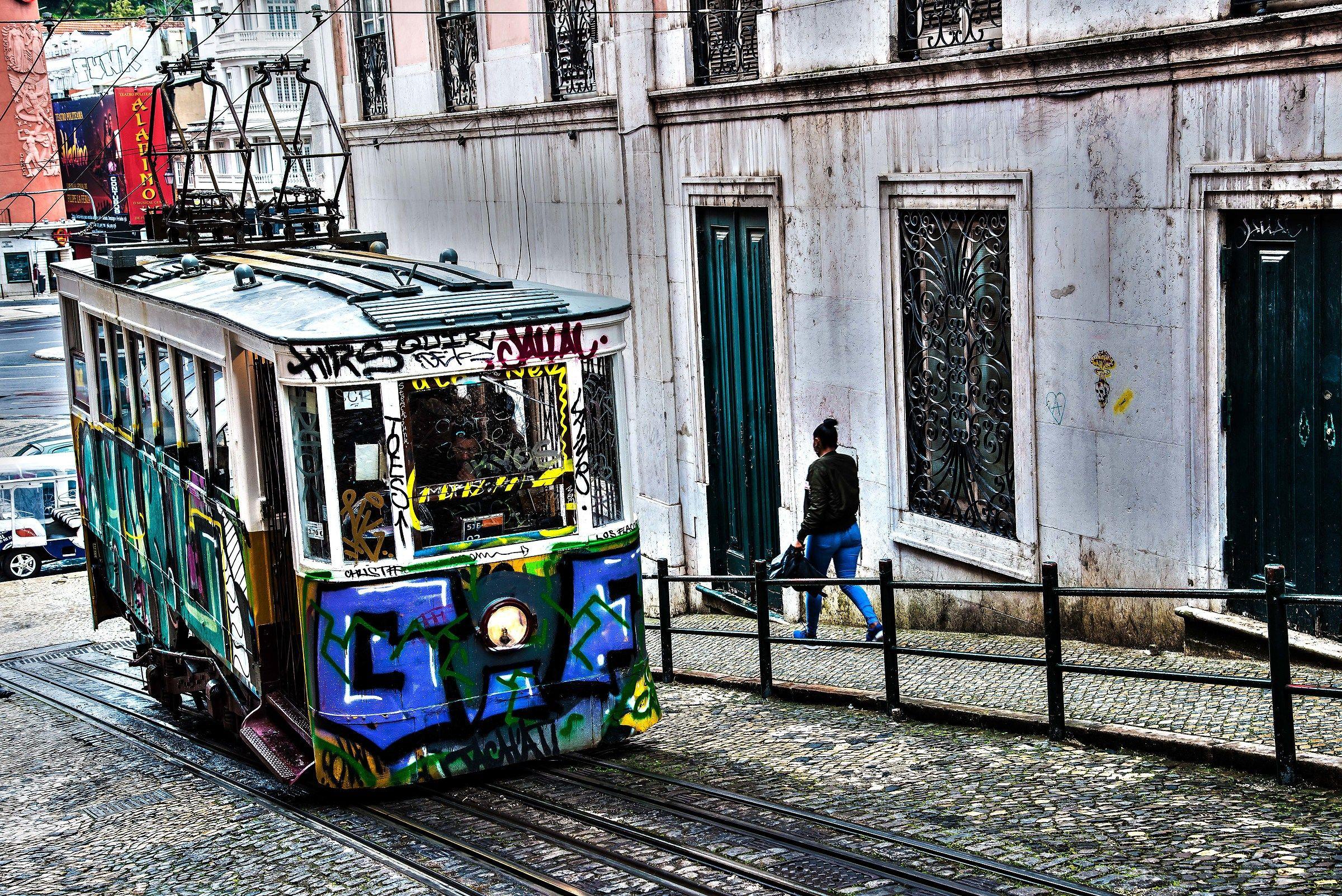The Lisbon 2 tram...