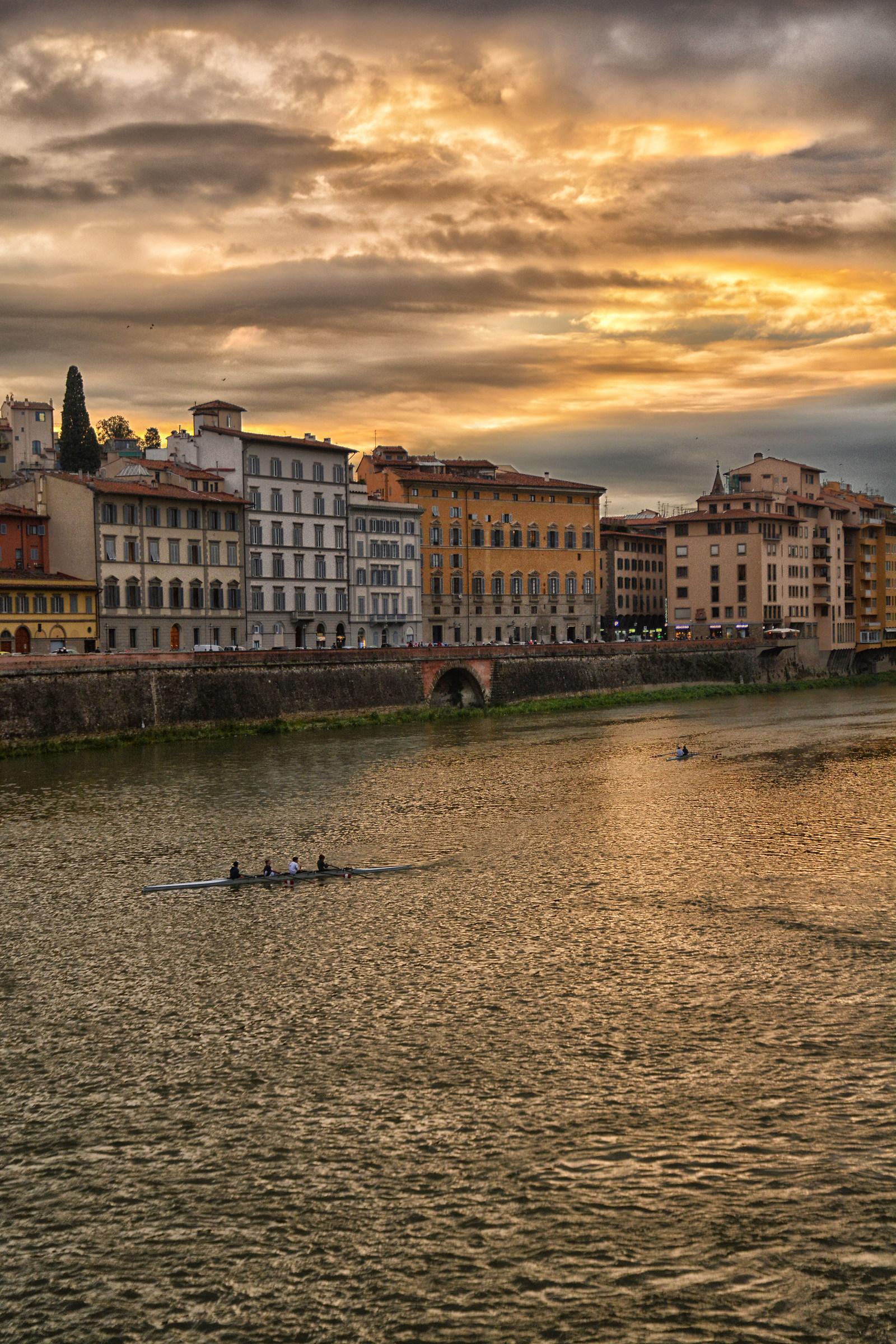 Arno at sunset...