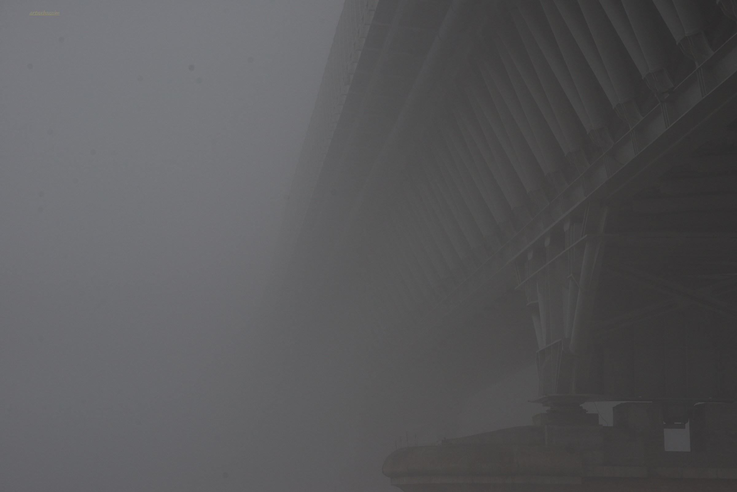 The Po Bridge on a day full of fog...