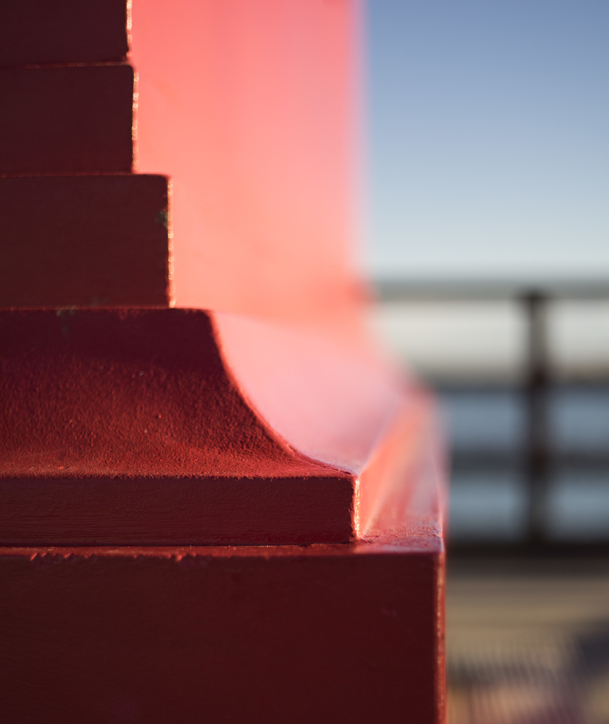 Red Lighthouse of Lignano Sabbiadoro; Detail ...