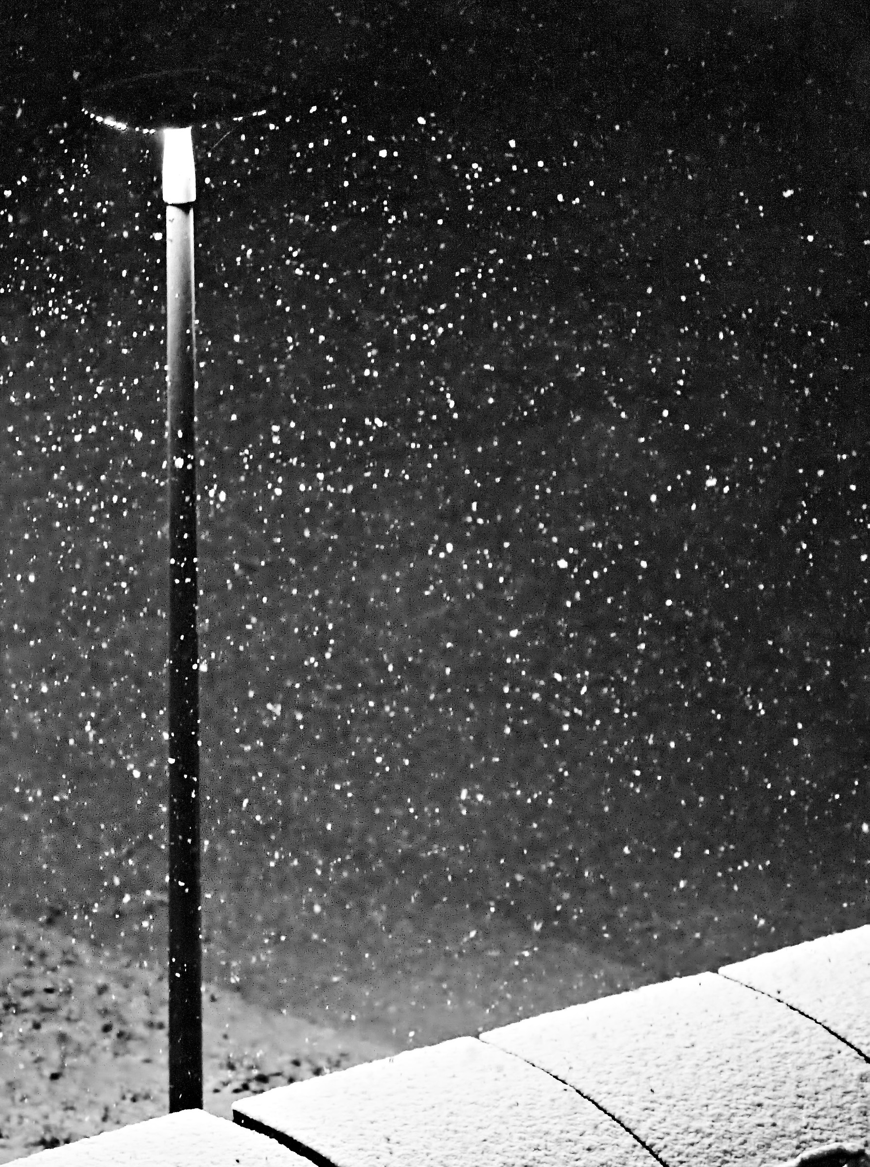 Snowing in the town...