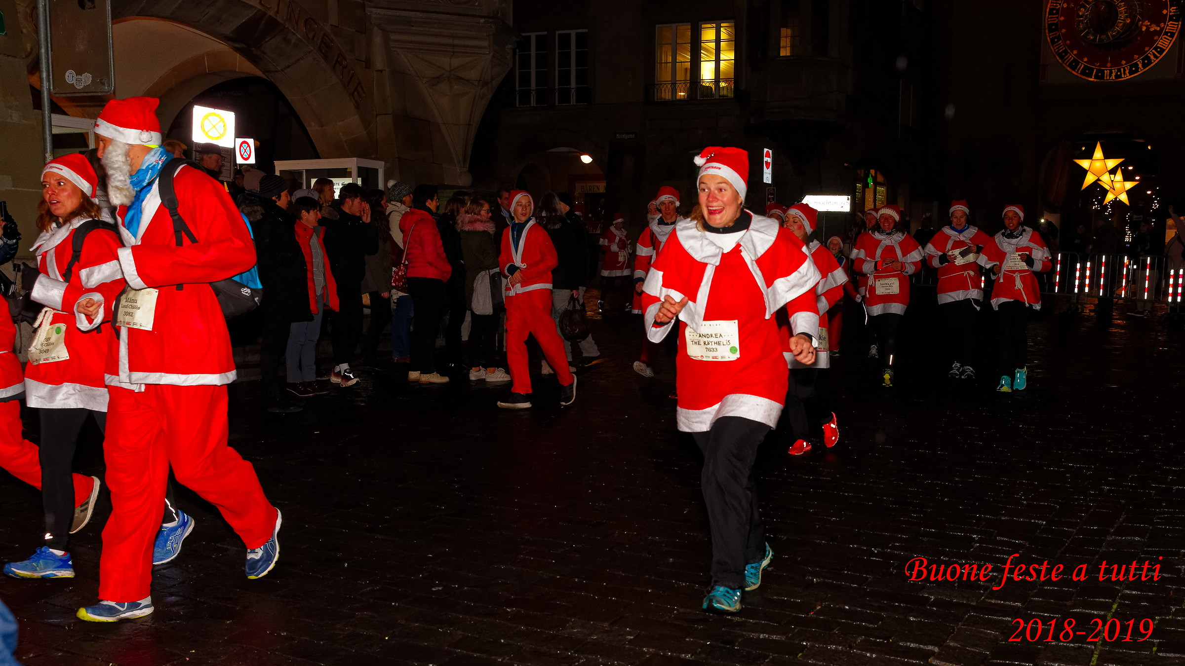 Santa Claus is coming to town, let's run!...
