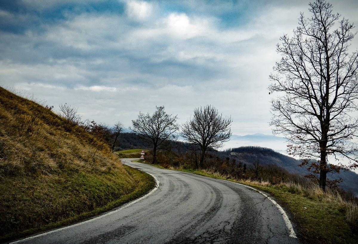 La strada vuota...
