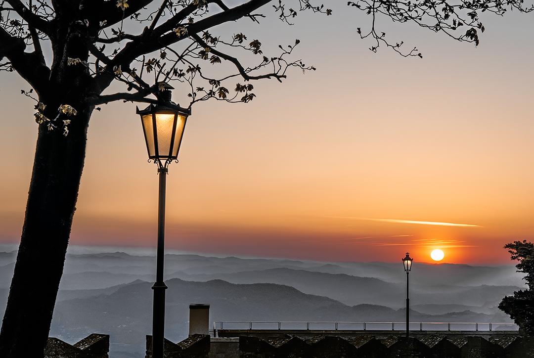 Walking at sunset...