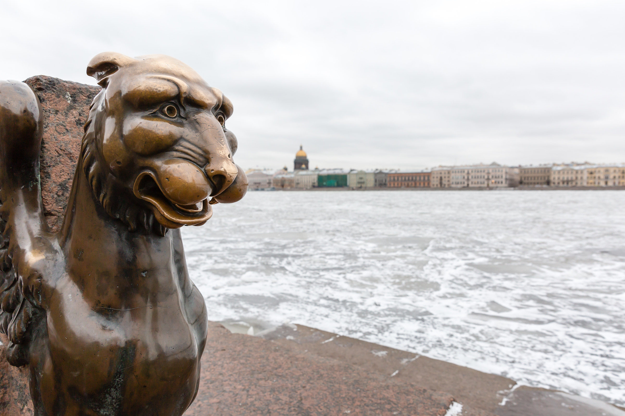 The Griffins guarding the Neva...